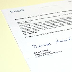 Denise Hrabal, Projekt Manager EADS Corporate Protocol